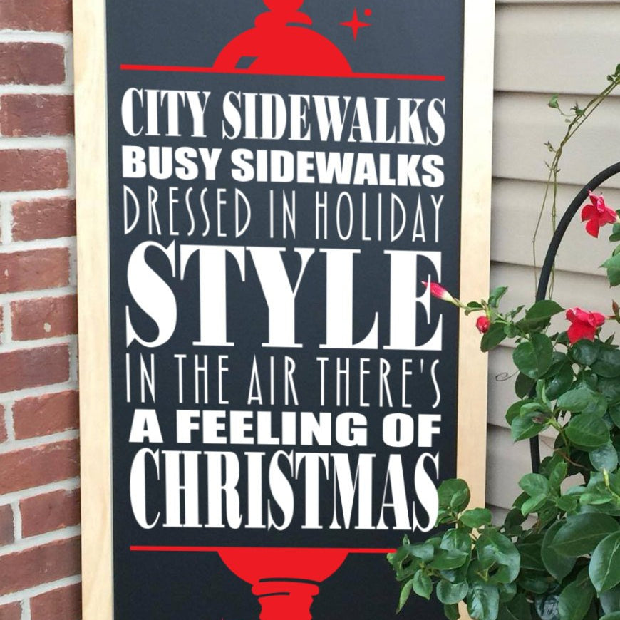 Christmas Decor- Christmas Chalkboard - Porch Sign - Christmas Decoration - Indoor/Outdoor Decor - Lola's Design Loft