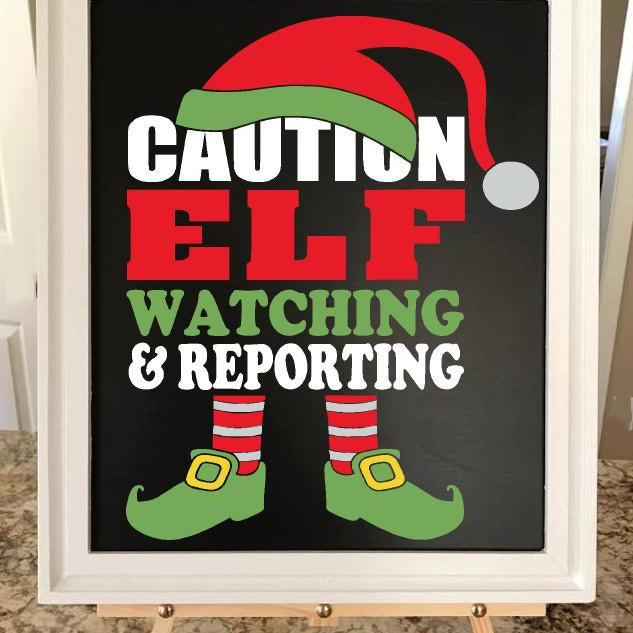 Christmas Decoration - Christmas Print - Elf Sign