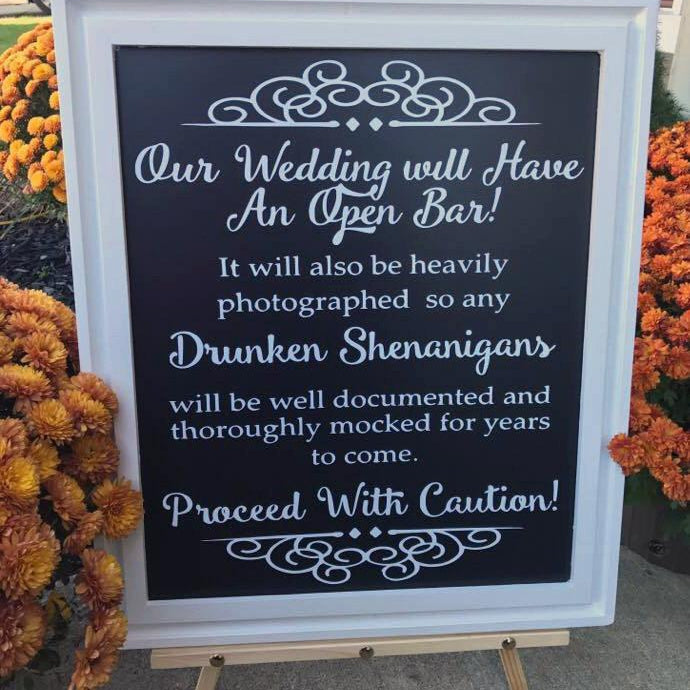 Drunken Shenanigans - Wedding Sign - Lola's Design Loft