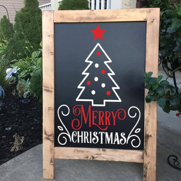 Christmas Decor - Christmas Chalkboard- Outdoor Christmas Decoration - Merry Christmas - Holiday Decor - Large