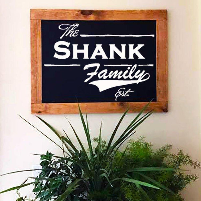 Rustic chalkboard, Framed Chalkboard, Chalkboard Easel Business Sign, Chalkboard Sign, Family Sign, Home Decor, Customize - Lola's Design Loft