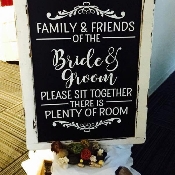 Wedding Seating Sign - Please Sit Together - Lola's Design Loft