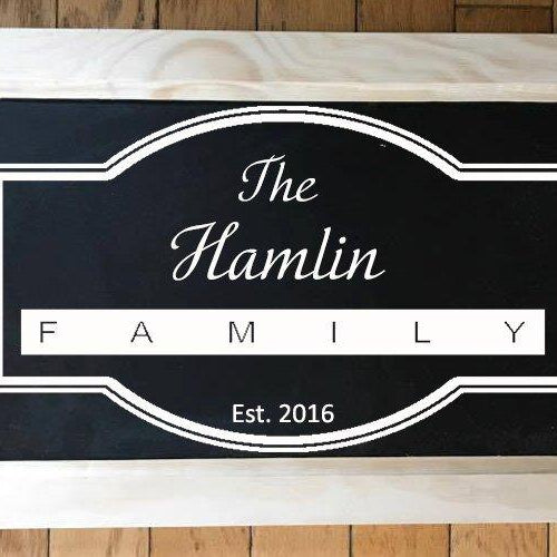 Serving Tray, Wood Serving Tray, Rustic Wood Serving Tray, Breakfast Tray, Personalized Serving Tray, Chalkboard Tray,  Rustic Serving Tray - Lola's Design Loft