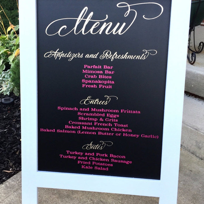 Wedding Menu  Sign - Rustic Wedding Sign - Wedding Chalkboard - Chalkboard Sign - Wedding Signs  - Wedding Decor - Wedding Signs - Gold Foil - Lola's Design Loft
