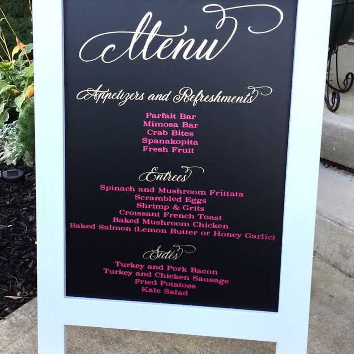 Wedding Menu - Large Sign w/Gold Foil - Lola's Design Loft