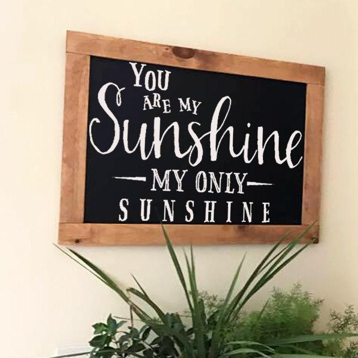 Rustic chalkboard, Framed  Chalkboard, Chalkboard Easel Business Sign, Chalkboard Sign, Family Sign, Home Decor, You are My Sunshine - Lola's Design Loft
