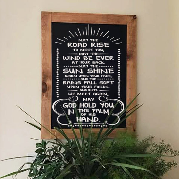 May the Road Rise up to Meet You - Rustic Wall Art