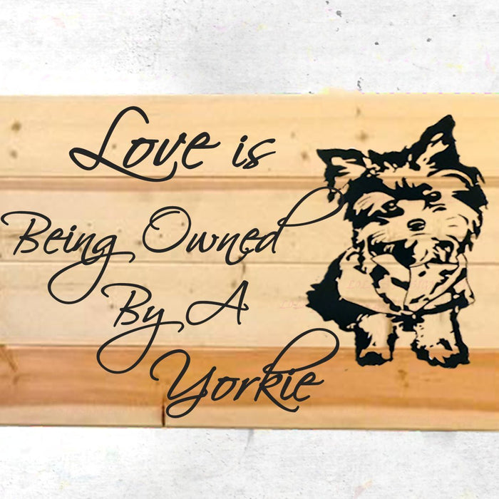 Yorkie Wall Decor - Pet Wall Decor - Dog Wall Art - Yorkie - Rustic Wood Sign - Pallet Sign - Wall Decor - Home Decor Sign - Personalize it! - Lola's Design Loft