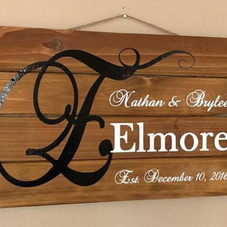 Custom Wood Pallet Signs, Family Name Sign, Wedding Established Sign, Rustic Wood Sign, Wedding Gift,  Pallet Signs, Personalized Signs - Lola's Design Loft