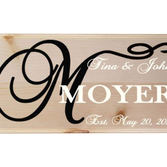 Established Sign - Family Name Sign - Wedding Established Sign - Last Name Sign - Wood Sign - Family Name - Home Decor - Personalized - Lola's Design Loft