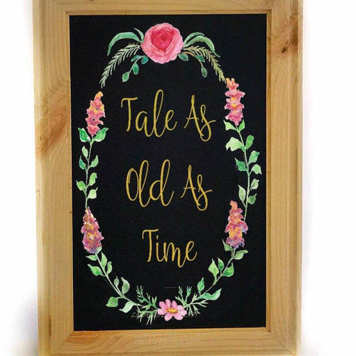 Beauty and Beast Wedding Theme - Disney Themed Wedding Decor - Wedding Chalkboard Sign - Wedding Signs -  Rustic Wedding Sign - Wedding Idea - Lola's Design Loft