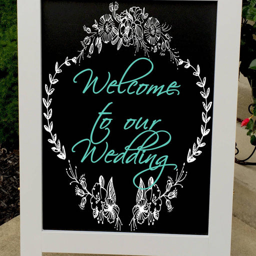 Wedding Welcome Sign - Wedding Sign - Wedding Chalkboard - Wedding Signs -  Rustic Wedding Sign - Wedding Decor - Design Your Own - Lola's Design Loft