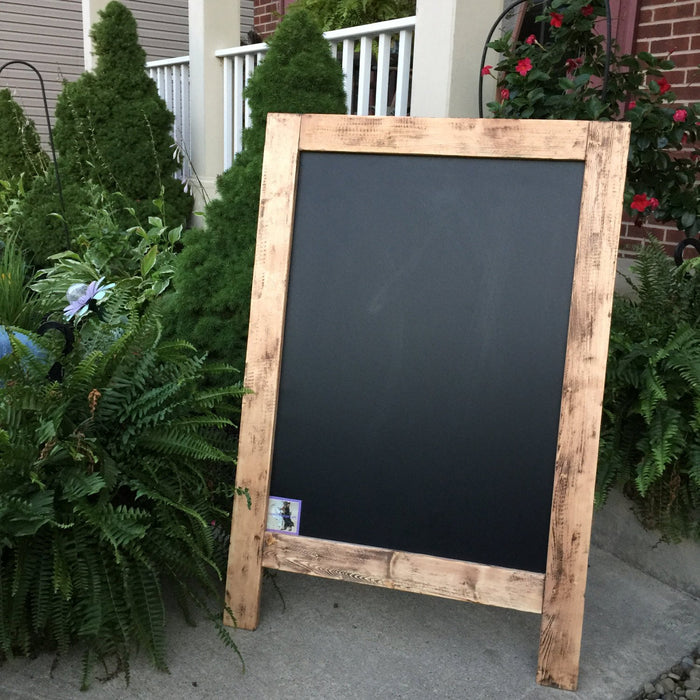Wedding Chalkboard - Chalkboard Sign - Sidewalk Sign - Outdoor Sign - Sandwich Sign - Rustic Wedding Sign - Business Sign - Double Sided - Lola's Design Loft