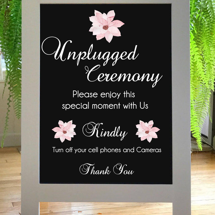 Unplugged Wedding Sign, Unplugged Ceremony Sign, Rustic Wedding Sign, Welcome Wedding Sign, No Cell Phone, No Camera, Wood Wedding Sign - Lola's Design Loft
