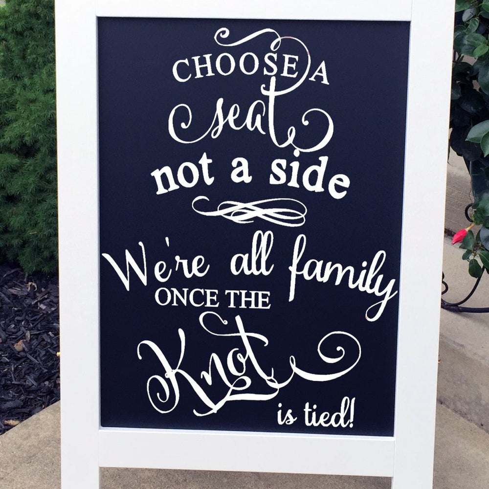 Pick A Seat Sign - Wedding Seating Sign - Seating Signs - Wedding Signs - Wedding Chalkboard Sign - Rustic Wedding Signs - Wedding Sign - Lola's Design Loft