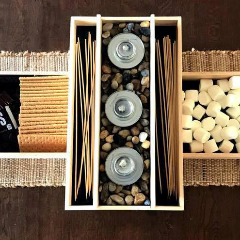 Smores Bar,  Smore's Bar, Smores Party Station, Indoor S'mores Bar, Wedding S'mores Roasting Station, Dessert Bar, Party Ideas, Extra Large - Lola's Design Loft