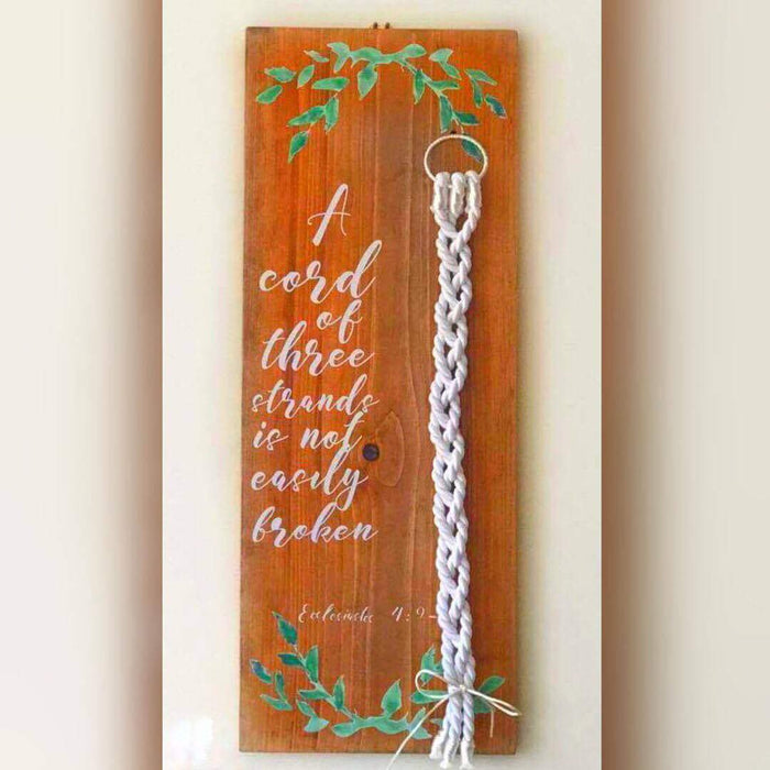 Cord of Three Strands Sign, Unity Cord, Unity Knot, Cord of 3 Sign, Wedding Sign, Rustic Wedding Sign, Unity Ceremony Sign, Wedding Ceremony - Lola's Design Loft