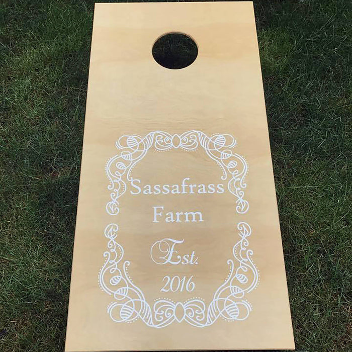 Corn Hole Boards, Wedding Cornhole, Outdoor Wedding Games, Optional LED Lights - Lola's Design Loft