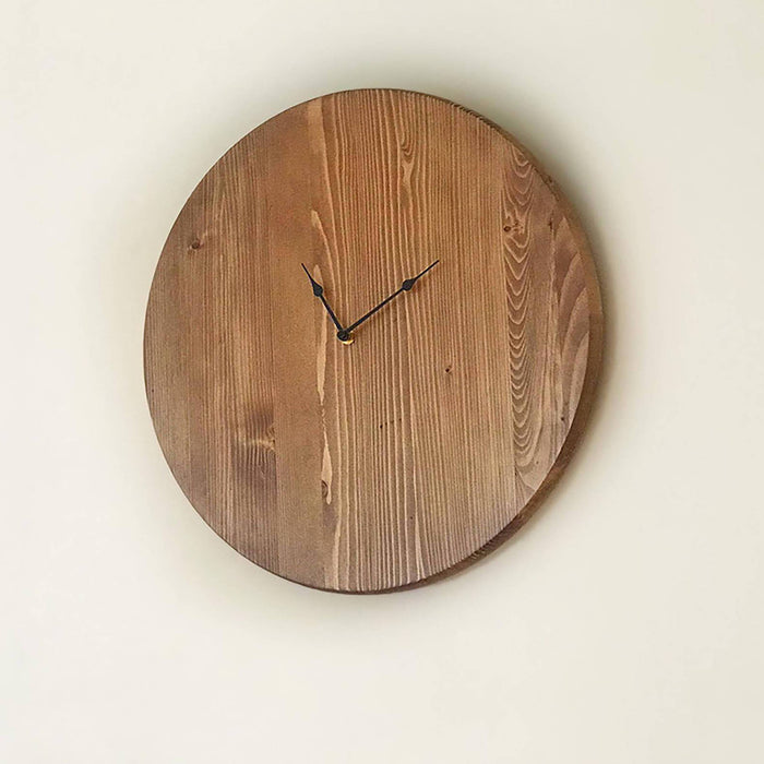 "Farmhouse Wall Clock, Large Wall Clock, Oversized Wall Clock, Unique Wall Clock, Rustic Wall Clock, Personalized Clock 18"" or 24"" In. - Lola's Design Loft"