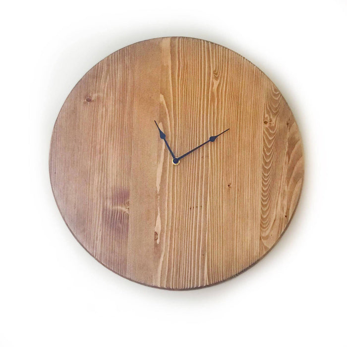 Large Wall Clock, Rustic Wall Clock,  Oversized Wall Clock, Personalized Wall Clock, Wood Farmhouse Clock, Wooden Clock, Wedding Gift - Lola's Design Loft