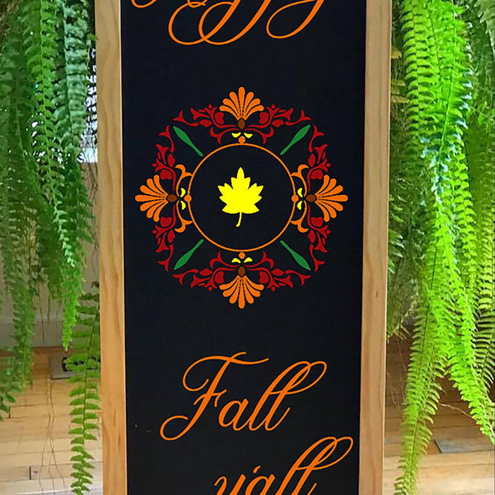 Fall Porch Decor, 2- Sided Porch Sign, Porch Decor, Autumn Home Decor Christmas Sign, Autumn Decor, Happy Fall Y'all, Reversible Porch Sign - Lola's Design Loft