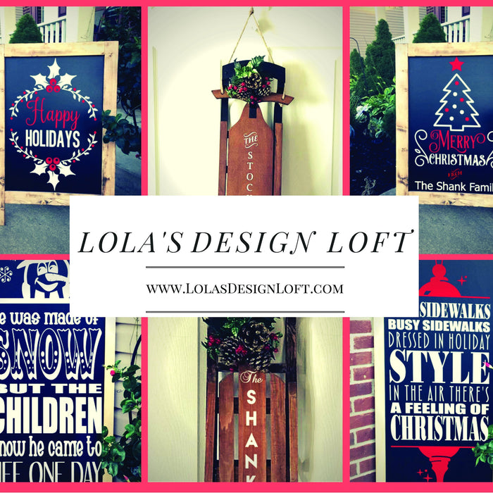 Holiday Porch Decor, Christmas Decor - Christmas Chalkboard - Outdoor Decor - Happy Holidays - Porch Decor - Holiday Decor - Christmas Sign - Lola's Design Loft