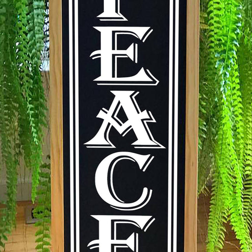 Peace - Christmas Porch Sign - Lola's Design Loft