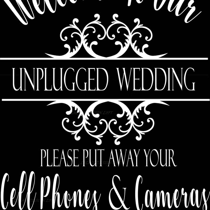 Unplugged Wedding Decal - Lola's Design Loft