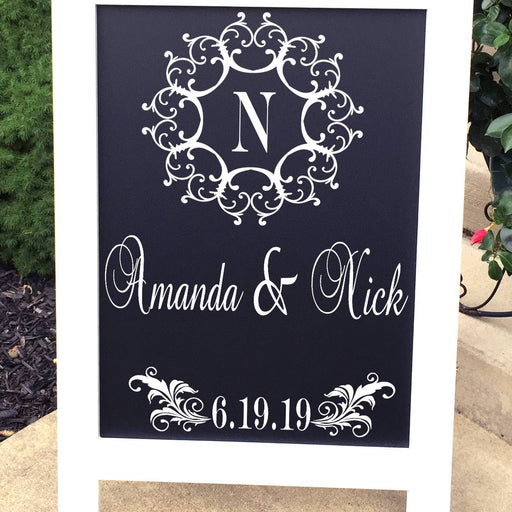 DECAL, Wedding Decal, Wedding Welcome Decal, Welcome to Our Wedding Decal, Wedding Monogram Decal, Dance Floor Decal,  DECAL ONLY - Lola's Design Loft