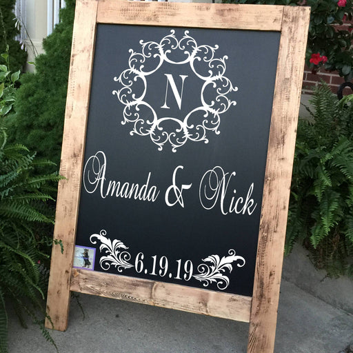 Wedding Welcome Sign Wedding Sign Monogram Wedding Sign Rustic Wood Wedding Sign Wood Wedding Sign Personalized Wedding Sign - Lola's Design Loft