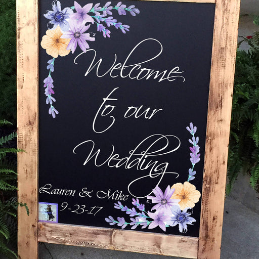 Wedding Welcome Sign, Wedding Sign, Monogram Wedding Sign, Rustic Wood Wedding Sign, Wood Wedding Sign, Personalized Wedding Sign - Lola's Design Loft