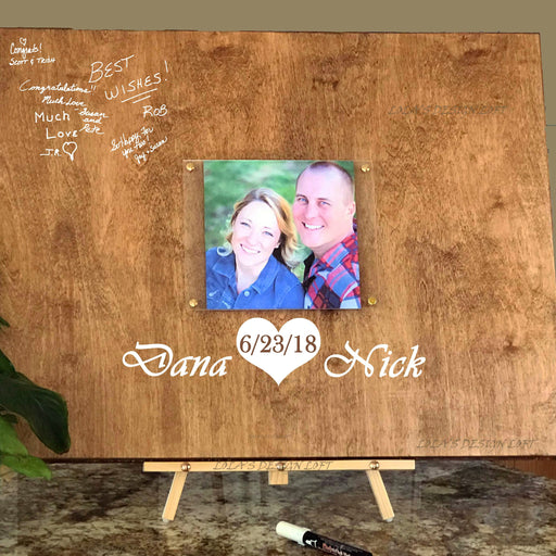 Rustic Wedding Guestbook - Customized - Lola's Design Loft