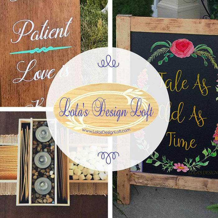 Once Upon a Time Wedding Sign, Fairy Tale Wedding Theme, Beauty and Beast Wedding Theme, Wedding Signs, Rustic Wedding Sign, Wedding Decor - Lola's Design Loft