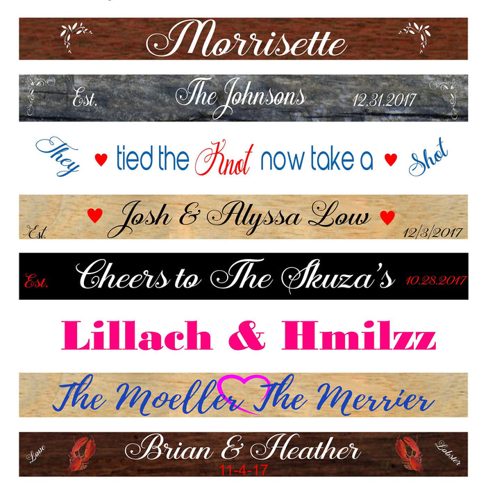 Shot Ski, Shotski, Shot Board, Wedding Shot Ski, Tailgate, Drinking Game, Shot Glasses, Bachelorette Party, Bachelor Party, Customized - Lola's Design Loft