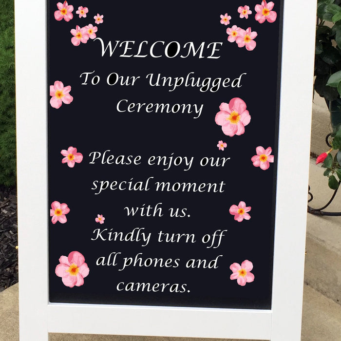 Unplugged Wedding Sign, Unplugged Sign, Wedding Signs, Rustic Wedding Sign, Wedding Decor, Custom Wedding Sign, Wedding Decorations - Lola's Design Loft