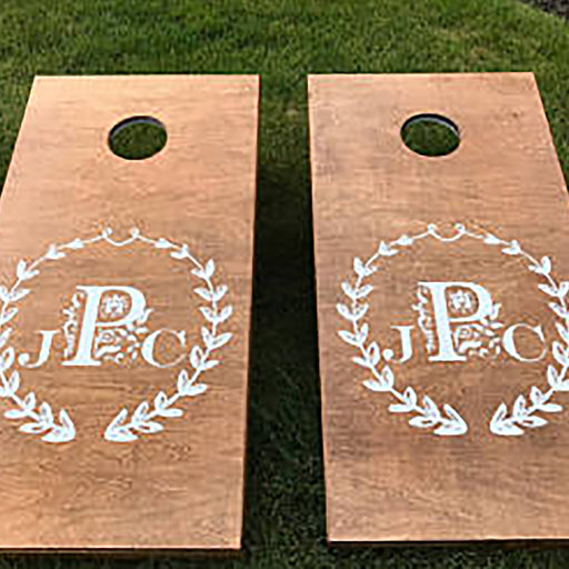 Cornhole Decal Set, Wedding Decals, Personalized Corn Hole Decal, Personalized Wedding Decals, Corn Hole Decal, Custom Corn Hole Decal - Lola's Design Loft