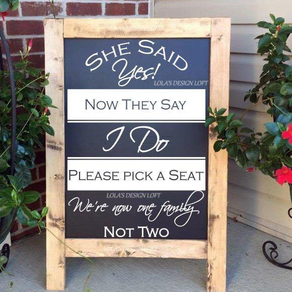 DECAL, Pick A Seat Sign Wedding Decal, Pick A Seat Decal, Wedding Sign Decal, We Are All Family Decal, Wedding Decal, DECAL ONLY - Lola's Design Loft