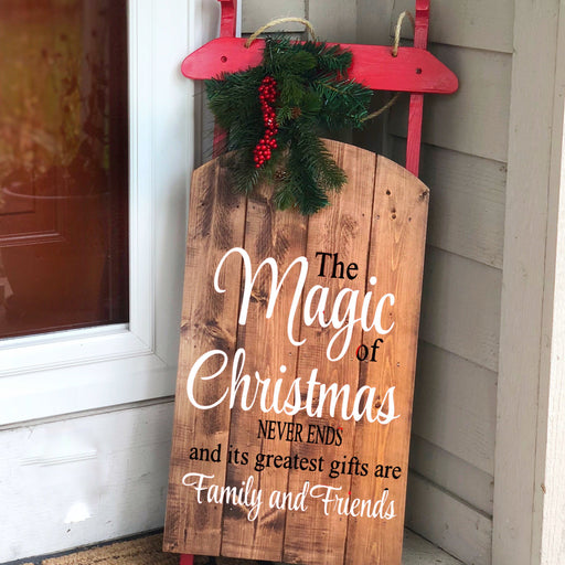 Magic of Christmas Sled - Lola's Design Loft