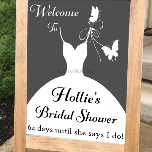 Bridal Shower Sign - Bridal Shower Decor - Lola's Design Loft