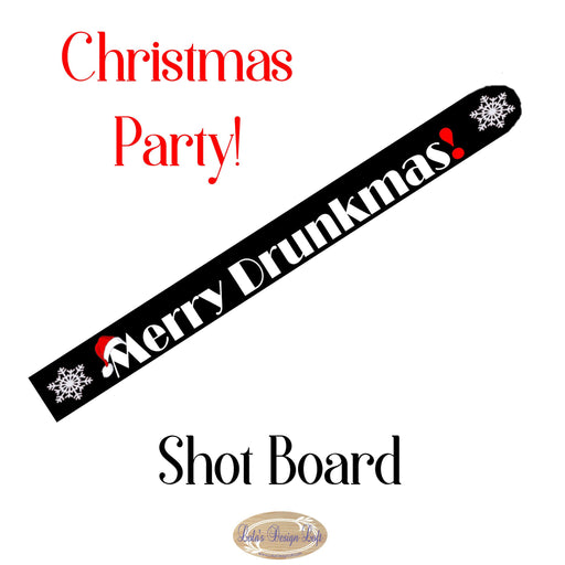 Shot Board, Holiday Party Ideas, Drinking Game, Shot Glasses, Christmas Party, Drinking Party, Christmas Gift for, Customize - Lola's Design Loft