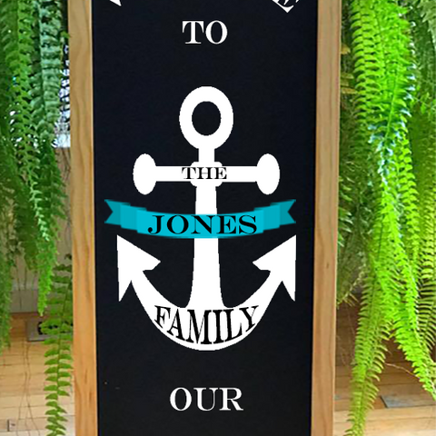 Lake House Sign, Lake House Decor, Personalized Beach House Sign, Nautical Decor