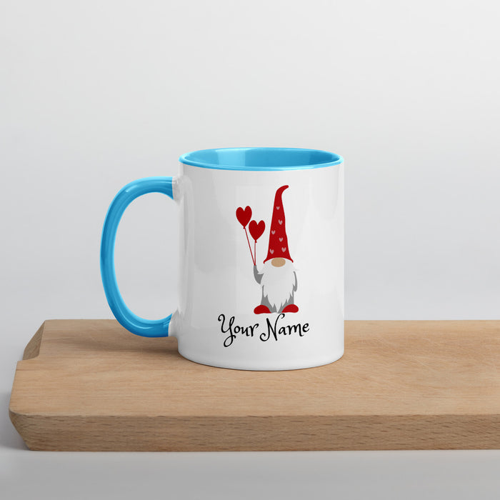 Valentine's Day Gnome Mug!  with Color Inside