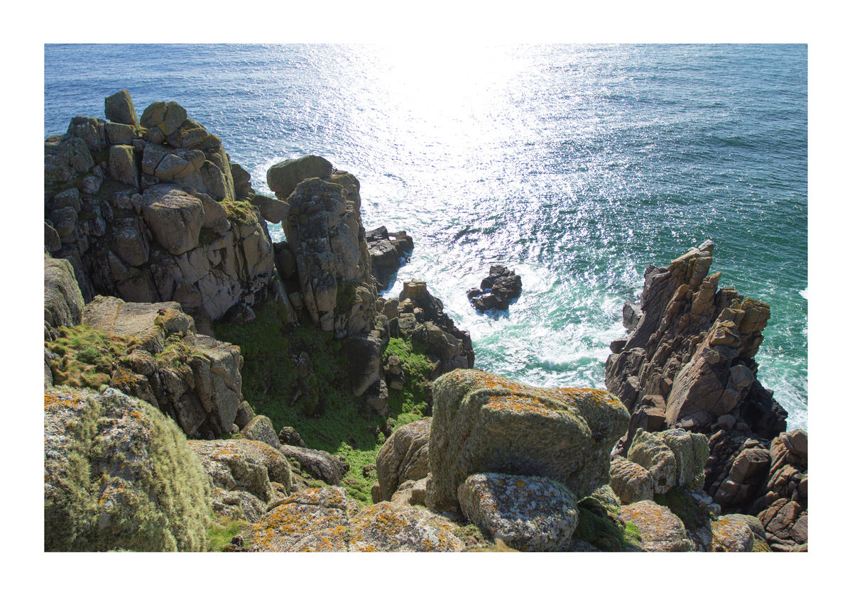 Cornish Coastline at Carn Lês Boel, Near Land's End