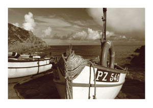 Traditional Fishing Boats at Penberth Cove