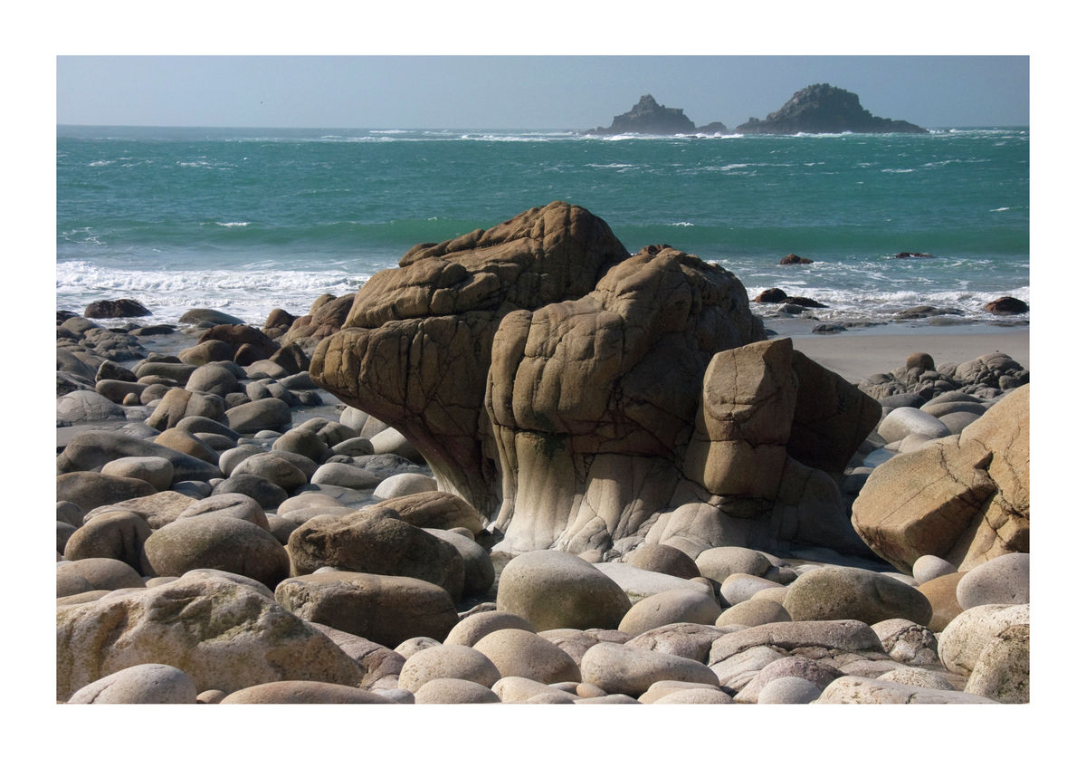 Rocky Beach at Cott Valley in Cornwall