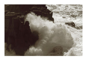 Crashing Waves Against Cliffs in Cornwall - 02
