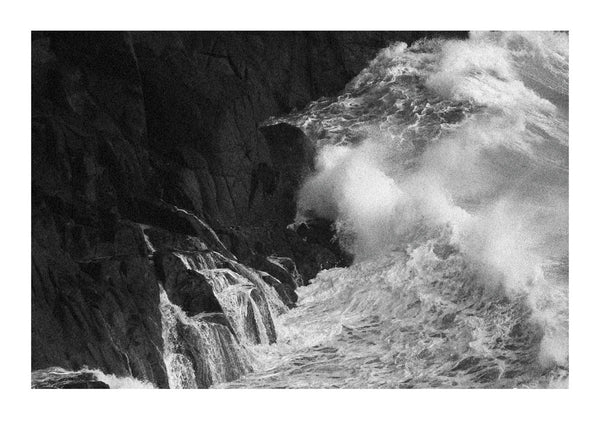 Waves Crashing Against Rocks - Cornwall