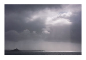 Light Breaking Through Clouds at Mounts Bay, Cornwall