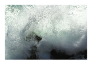 Breaking Wave Over Rocks - Cornwall