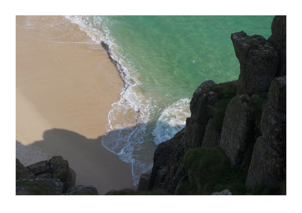View of Green Bay from Clifftops, in Porthcurno